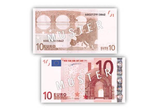 Eurobanknoten for Klassik baustil